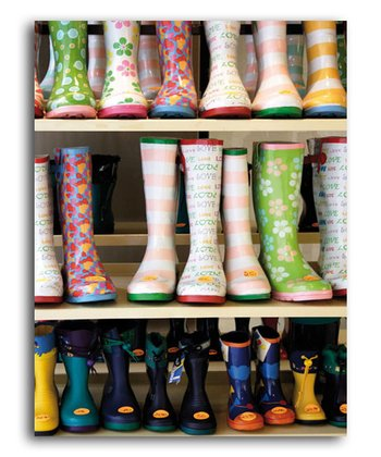 Colorful Rubber Boots Colorluxe Puzzle