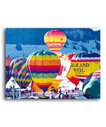 Swiss Hot Air Balloons Colorluxe Puzzle