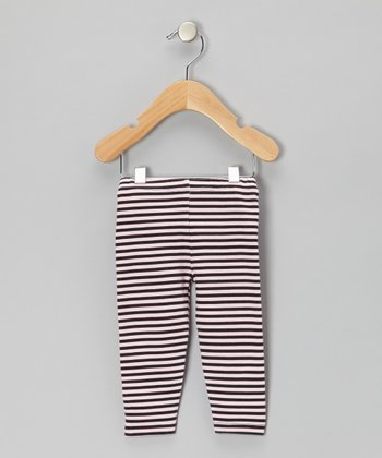 Pink & Black Stripe Leggings