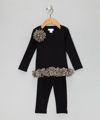 Black Leopard Tunic & Leggings