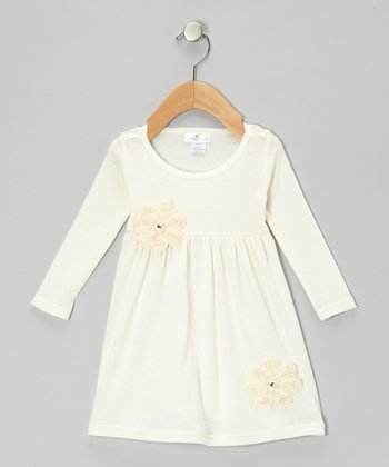 Ivory Pearl Flower Bella Dress - Infant
