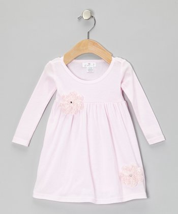 Pink Pearl Flower Bella Dress - Infant