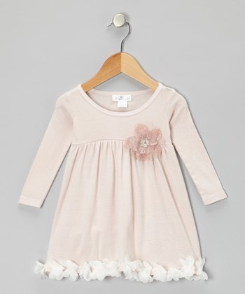 Dusty Mauve Petal Babydoll Dress