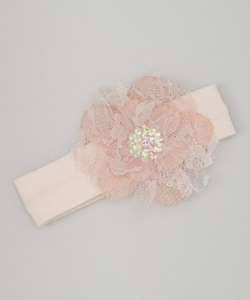 Dusty Mauve Lace Flower Headband