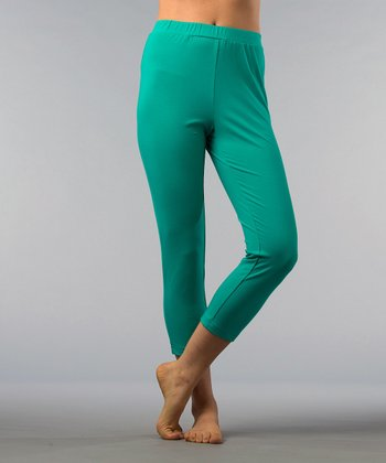 Aqua Capri Leggings