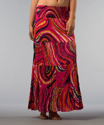 Fuchsia Abstract Skirt