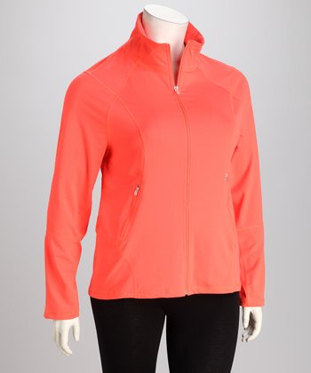 Neon Mango Track Jacket - Plus