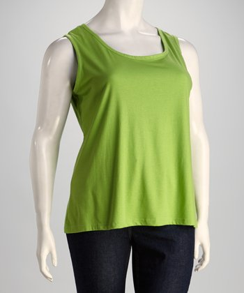 Lime Plus-Size Sleeveless Top