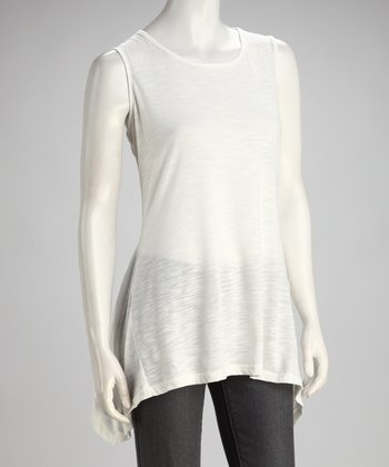 White Sidetail Tunic