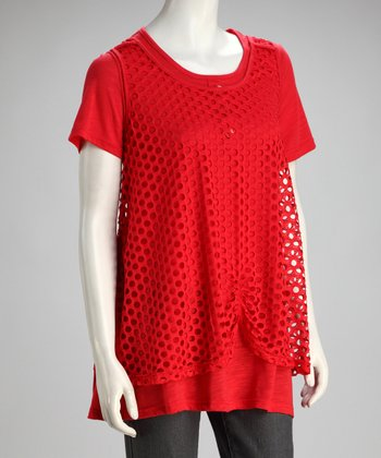 Red Layered Tunic