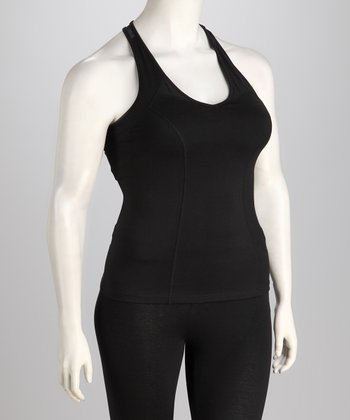 Black Plus-Size Racerback Tank
