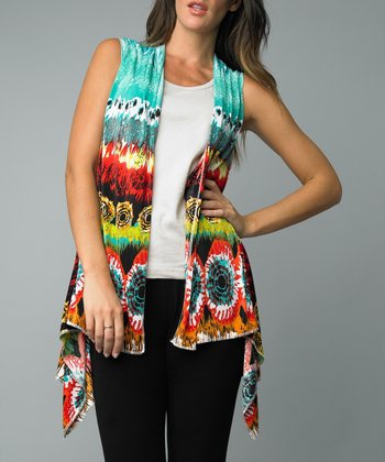 Aqua Exotic Sidetail Vest