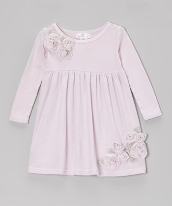 Warm Violet Elise Flower Dress - Infant