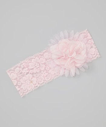 Pink Grace Flower Lace Headband