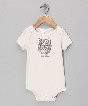 Tesa Babe Ivory Owl Bodysuit