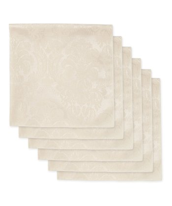 Ecru Damask Napkin - Set of Six