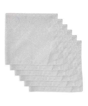 White Damask Napkin - Set of Six