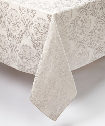 Platinum Damask Tablecloth