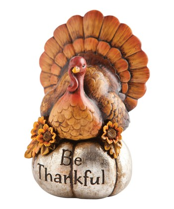 'Be Thankful' Turkey Figurine