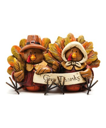 'Give Thanks' Turkey Figurine