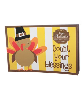 Harvest Turkey Paper Place Mat - Set of 24