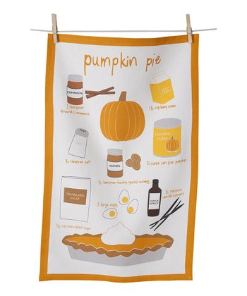 Pumpkin Pie Tea Towel - Set of Two