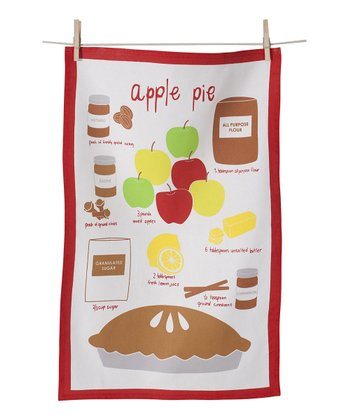 Apple Pie Tea Towel - Set of Two