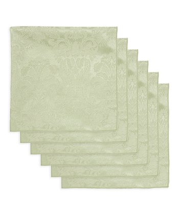 Sage Damask Napkin - Set of Six