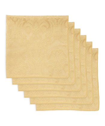 Butter Damask Napkin - Set of Six