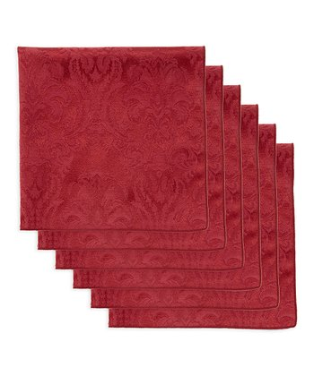 Wine Damask Napkin - Set of Six