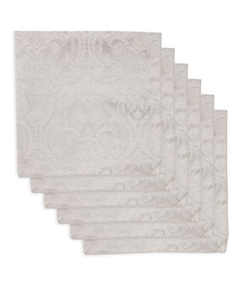Platinum Damask Napkin - Set of Six