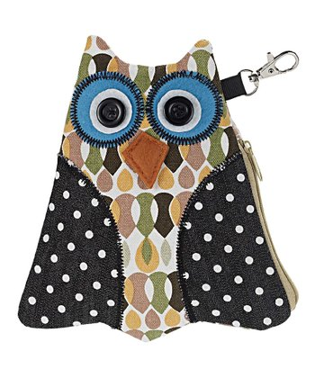 Blue Eyes Owl Coin Bag