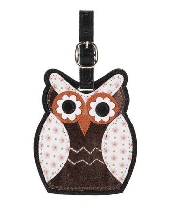 Owl Luggage Tag-Flowers