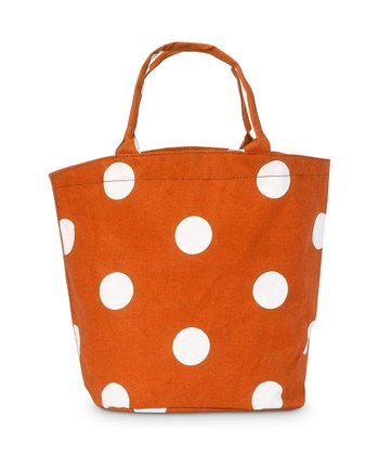 Orange Team Dot Bettie Tote Bag