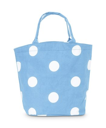 Light Blue Team Dot Bettie Tote Bag