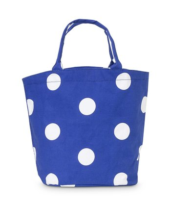 Royal Blue Team Dot Bettie Tote Bag
