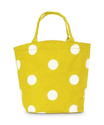 Yellow Team Dot Bettie Tote Bag