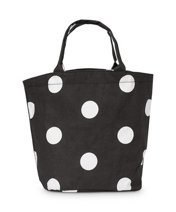 Black Team Dot Bettie Tote Bag