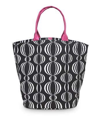 Black & Pink Pearly Girly Bettie Tote Bag