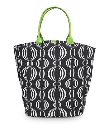 Black & Green Pearly Girly Bettie Tote Bag