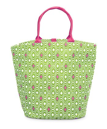 Green & Pink Curve Appeal Bettie Tote Bag