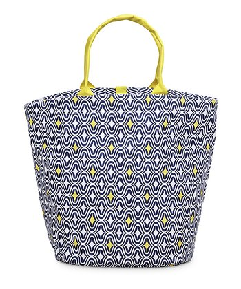 Navy & Yellow Curve Appeal Bettie Tote Bag