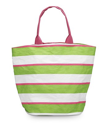 Green & Pink Chesapeake Bettie Tote Bag