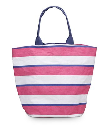 Pink & Navy Chesapeake Bettie Tote Bag