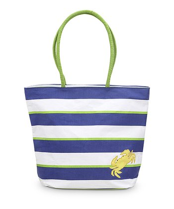 Crab Appliqué Chesapeake Beach Tote