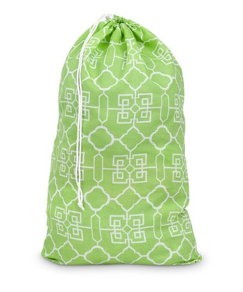 Green Lattice Laundry Bag