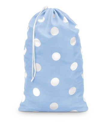Light Blue Team Dot Laundry Bag