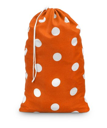 Orange Team Dot Laundry Bag