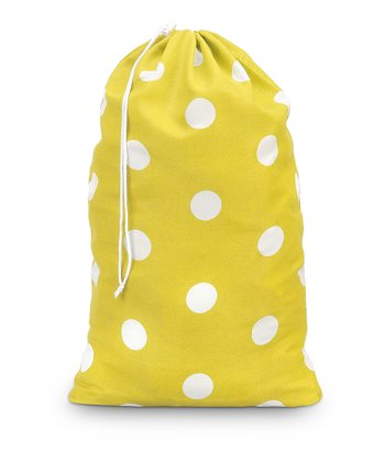 Yellow Team Dot Laundry Bag