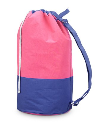 Pink & Navy Color Block Camp Duffel